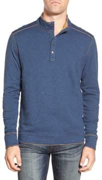 Jeremiah 'Mitch' Double Faced Mock Collar Shirt