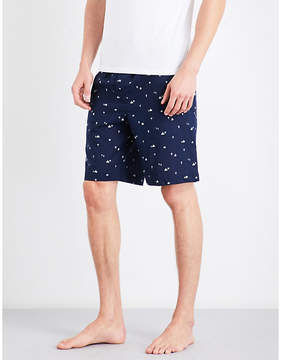 Derek Rose Mens Navy Naturally India Cotton House Shorts