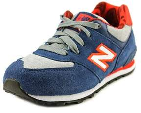 New Balance Kl574 Round Toe Suede Sneakers.