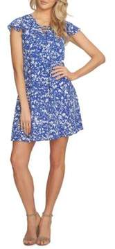 Cynthia Steffe Arianna Lace-Up Speckle Ditsy Dress