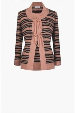 Sonia Rykiel Striped Mohair Knit Cardigan