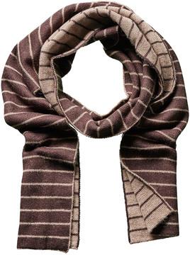 Portolano Minerva Brown Wool & Angora-Blend Scarf
