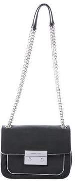 Michael Kors Chain-Link Leather Bag - BLACK - STYLE