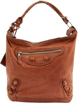 Balenciaga City Brown Leather Handbag