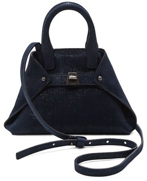 Akris Tasche Micro Leather Crossbody Bag - Grey