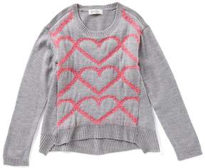 Jessica Simpson Big Girls 7-16 Heart Sweater
