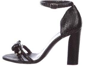 Balenciaga Knot-Accented Snakeskin Sandals