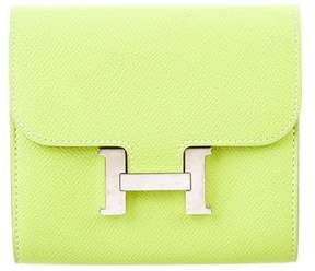 Hermes Constance Compact Wallet - GREEN - STYLE