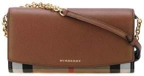 Burberry detachable strap flap wallet