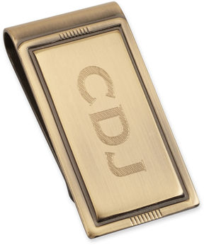 Asstd National Brand Personalized Brushed Die-Struck Money Clip