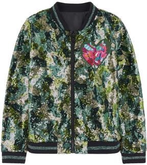 Desigual Sequined bomber jacket