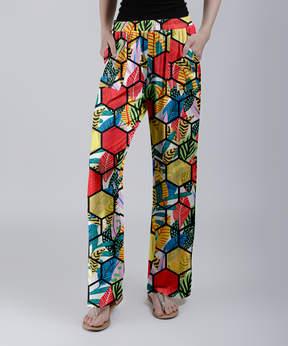 Lily Yellow Honeycomb Wide-Leg Pants - Women & Plus