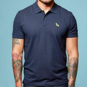 Blade + Blue Navy Blue Cotton Pique Polo Shirt