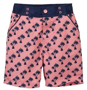 Andy & Evan Palm Tree Print Swim Trunks (Toddler & Little Boys)