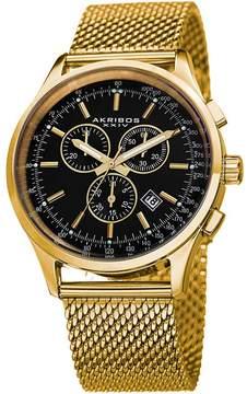 Akribos XXIV Chronograph Black Dial Men's Watch