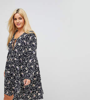 Alice & You Relaxed Smock Dress In Vintage Floral