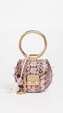 Salar Jie Snakeskin Ring Crossbody Bag