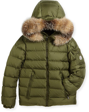 Moncler Boys' Byron Hooded Puffer Coat, Size 8-14