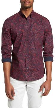 Nordstrom Trim Fit Non-Iron Floral Sport Shirt