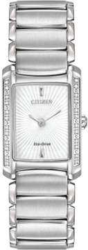 Citizen Euphoria EG2960-57A Silver/White Analog Eco-Drive Women's Watch
