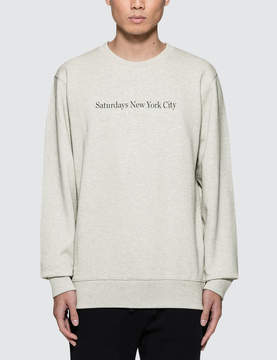Saturdays NYC Bowery Crewneck