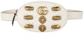 Gucci Marmont Gold Bug Belt Bag - WHITE - STYLE