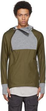Nike Green and Grey AAE 1.0 Zip Hoodie