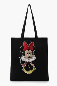 boohoo Disney Minnie Head In Hands Tote