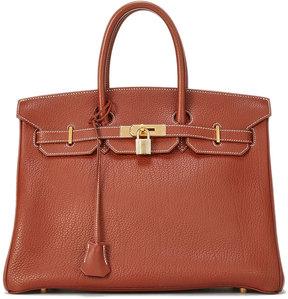 Hermes Vintage Brique Birkin Leather Satchel Bag, Brown - BROWN - STYLE