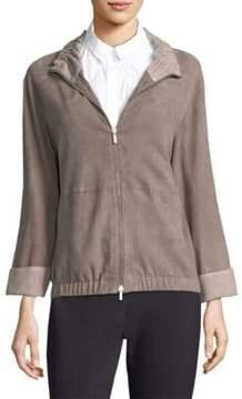 Peserico Zip Front Suede Jacket