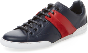 Christian Dior Men's Contrast Side Low Top Sneaker