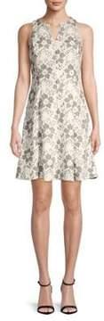 Donna Ricco Sleeveless A-Line Lace Dress