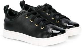 Lanvin Enfant classic lace-up sneakers