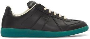 Maison Margiela Black and Green Replica Sneakers