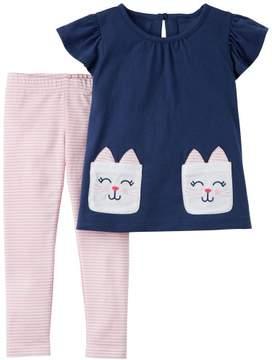 Carter's Baby Girls Bunny Rabbit Leggings Set