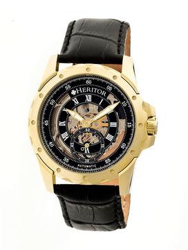 Heritor Armstrong Mens Black Strap Watch-Herhr3404