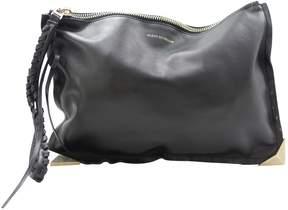 Elena Ghisellini Black Leather Clutch Bag