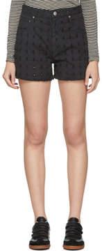 Etoile Isabel Marant Black Denim Felsey Shorts