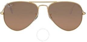 Ray-Ban Aviator Gradient Silver-Pink Mirror 55 mm Ladies Sunglasses RB3025-001-3E55
