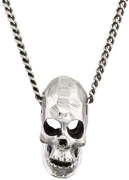 Emanuele Bicocchi Men's Skull Pendant Necklace