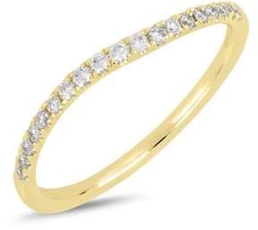 Bony Levy 18K Yellow Gold Diamond Detail Wavy Ring - 0.17 ctw
