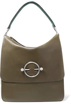 J.W.Anderson Disc Leather And Suede Shoulder Bag - Green