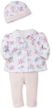 Little Me 4-Pc. Cotton Jacket, Bodysuit, Pants & Hat Set, Baby Girls