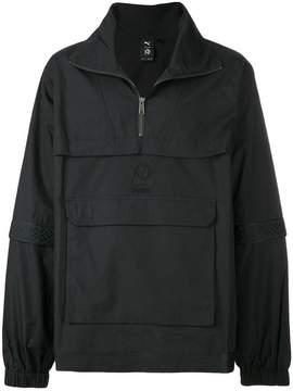Puma zipped collar front pocket sweater