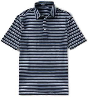Daniel Cremieux Stripe Jersey Short-Sleeve Polo Shirt