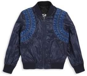 Diesel Little Boy's& Boy's Jace Zip-Front Reversible Jacket
