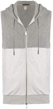 Eleventy sleeveless hoodie