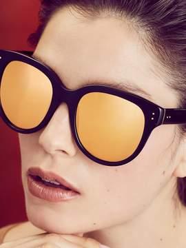 Linda Farrow Luxe Women's 24K Gold Oversized Frame