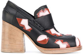 Marni applique detail heeled loafers
