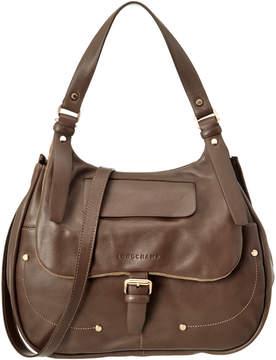 Longchamp Balzane Leather Hobo - GREY - STYLE